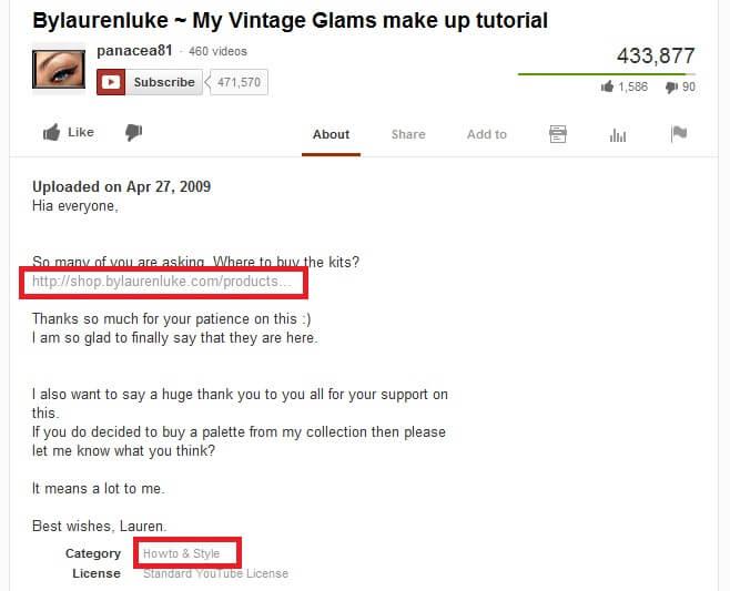 YouTube 網上推廣