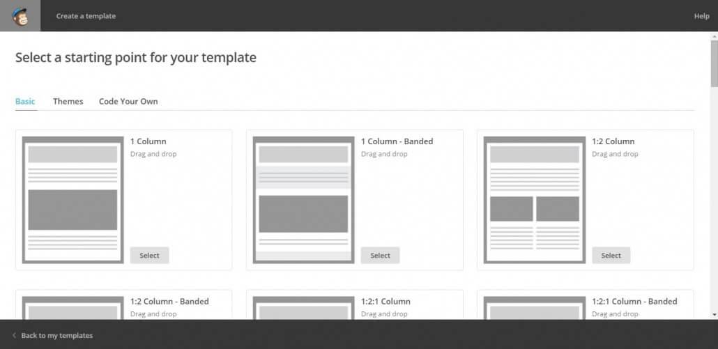 Mailchimp教學 template