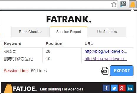 fatrank-SEO 排名查詢