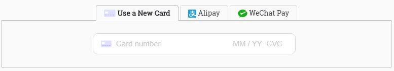 Stripe Alipay 付款