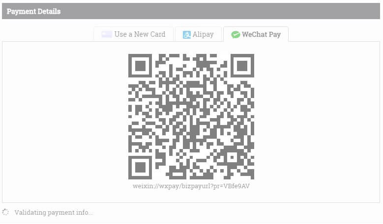 wechat via stripe