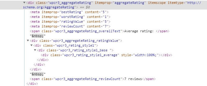 aggregate rating schema