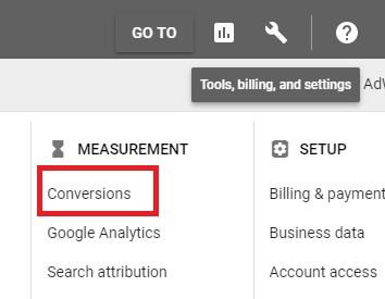 Google 廣告 設定轉化