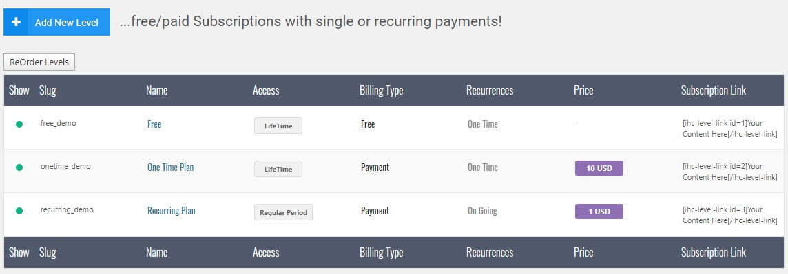 網頁設計 建立訂閱服務